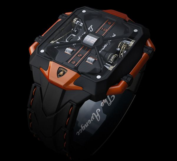 #watches The Avenger watch based on Lamborghini's ultramodern hypercar, the Aventador.