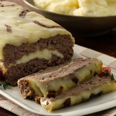 Cheese Stuffed Meat Loaf | Stuffed meals | Pinterest