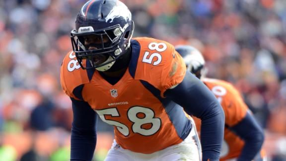 Von Miller is facing a 4 game suspension from the NFL for suspected drug use. An appeal process is ongoing.
