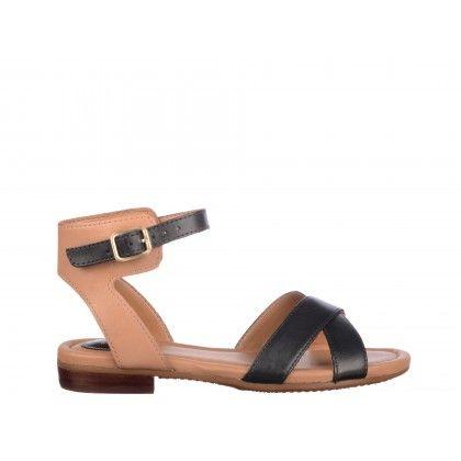 Sandale Clarks negre, din piele naturala