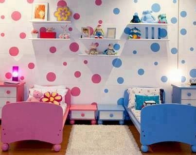 Cute idea for the any shared kids room.