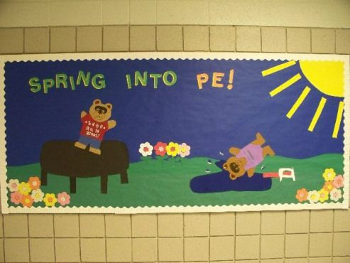 Spring into PE #technology #technology #bulletin #board