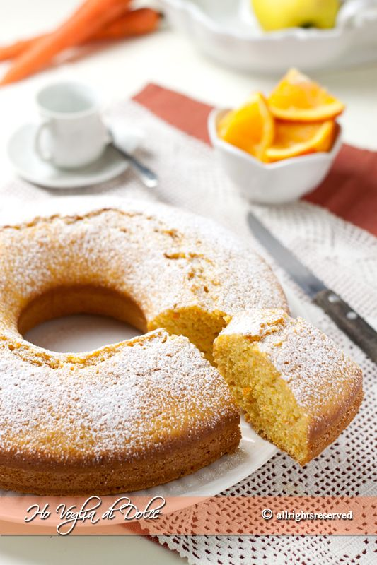 Torta di carote e arancia