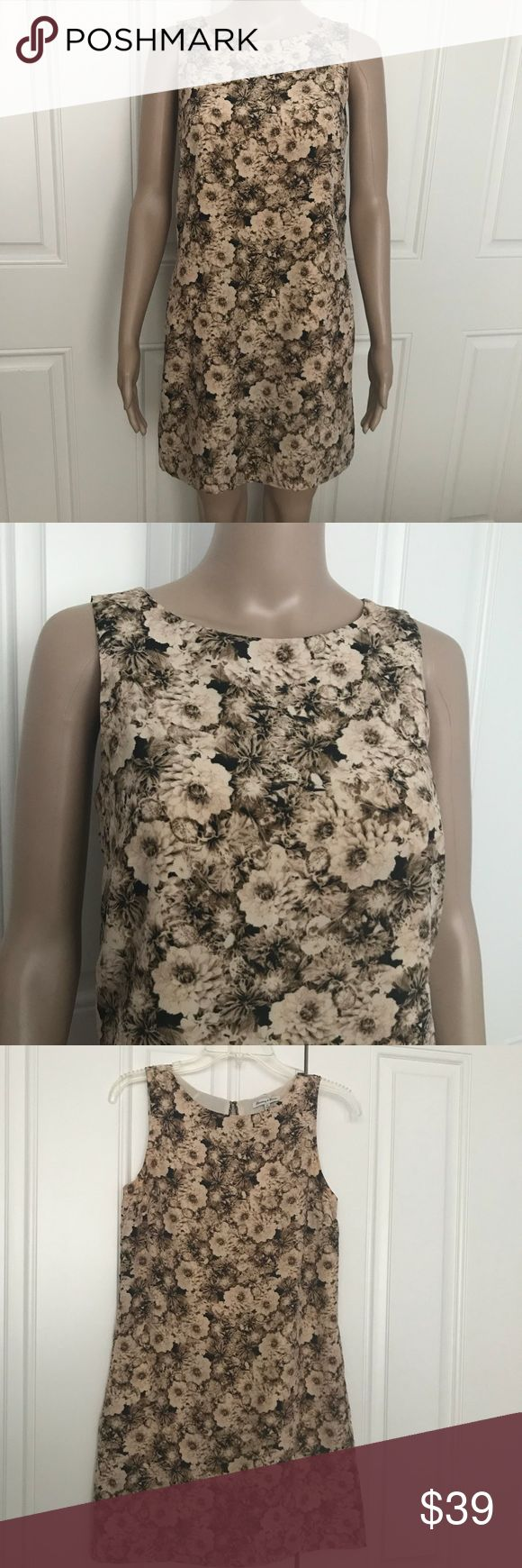 """Madewell Broadway & Broome silk floral dress XS Broadway & Broome Sepia 100% Silk Floral Sleeveless Shift Dress. Size XS. Dressis fully lined (lining made of polyester), pockets. Approximate measurements laying flat: armpit to armpit 16.5"""", hips 18"""", shoulder to hem length 32"""". Madewell Dresses Mini"""