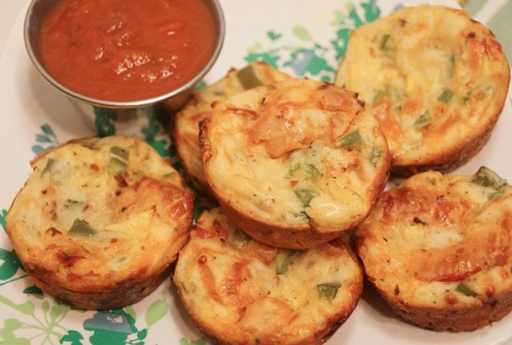 Sweet and Spicy Pizza Puffs - Slender Kitchen. Works for Weight Watchers® diet. 83 Calories.