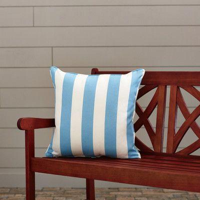 "Wayfair Custom Outdoor Cushions Outdoor Throw Pillow Color: Finnigan Oceana, Height: 18"", Width: 18"""