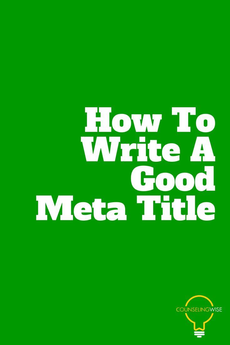 how to write an effective meta description