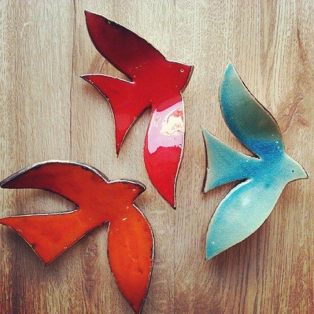 """70 Likes, 5 Comments - Dükkan Leyla (@dukkan_leyla) on Instagram: """"Seramik duvar kuşları"""""""