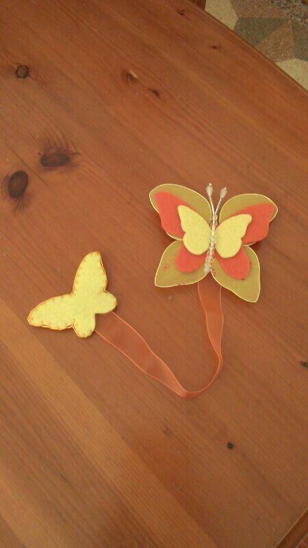 Farfalla in nylon e feltro