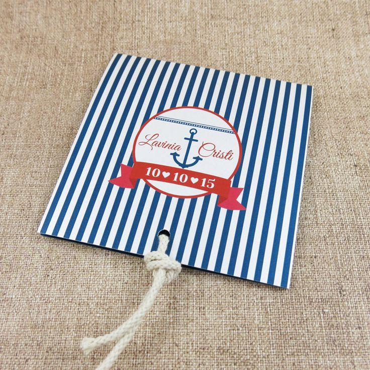 Invitaţie de nuntă Model Marinăresc http://designbyclarice.ro/