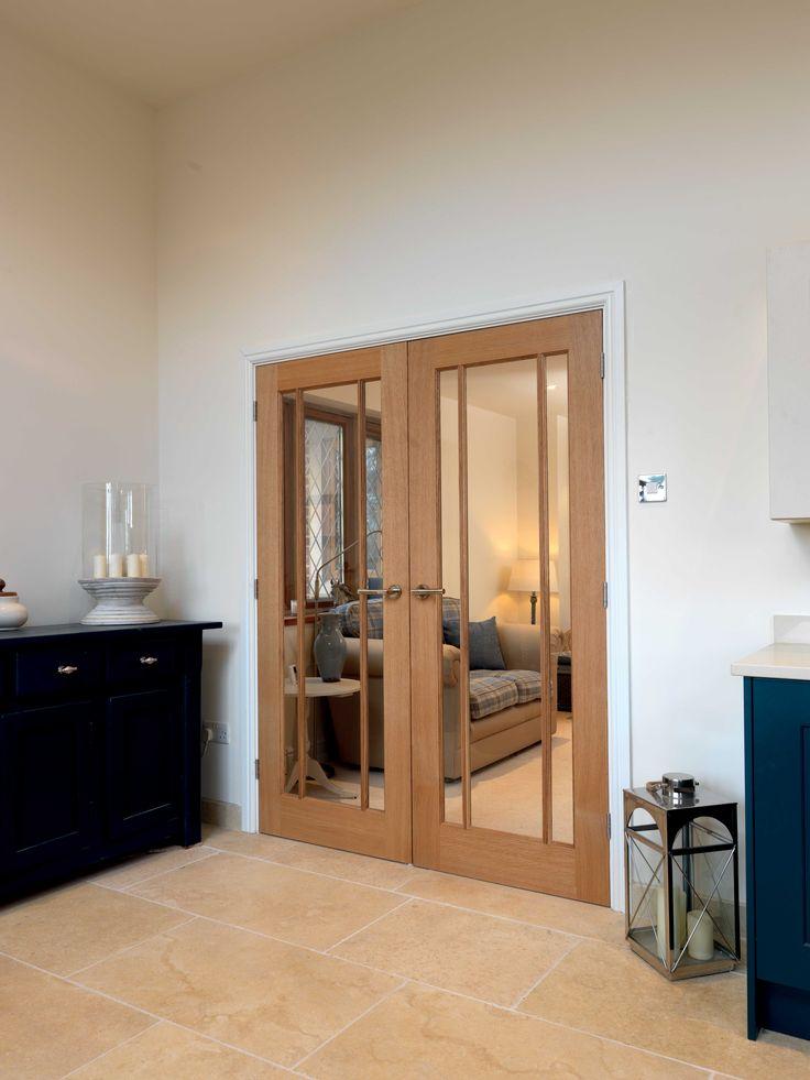 Classic style oak glazed #doubledoors JB Kind's River Oak Darwen