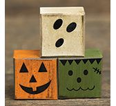 KP Creek Gifts - 3/Set, Boo Friends Blocks