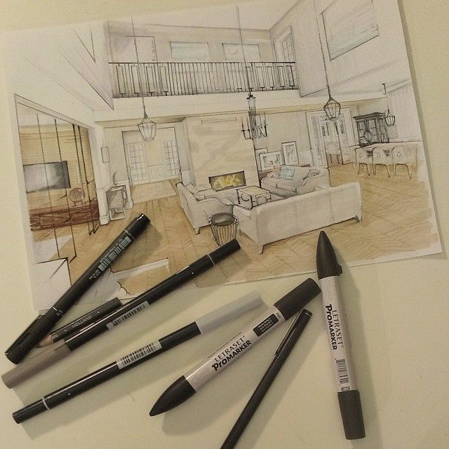 My new project. Do you like it? #pe2project#mywork#drawing#sketch#interior#interiorsketch#archsketch#livingroom#classicapartment#house#houseinspiration#promarker#tombow#chevron#