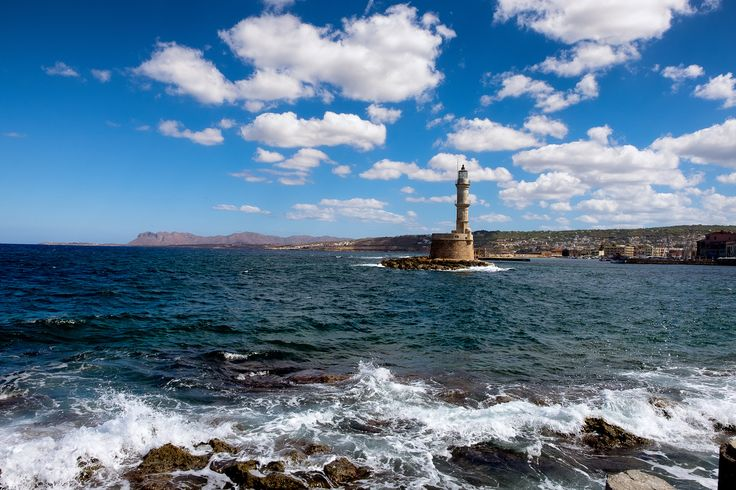Chania lighthouse - The entrance of the Chania harbor with the lighthouse.  Captured in RAW and post-processed in PS CC 2015 with Color Efex Pro 4. © Copyright: The reproduction, publication, modification, transmission or exploitation of any work contained herein for any use, personal or commercial, without my prior written permission is strictly prohibited.