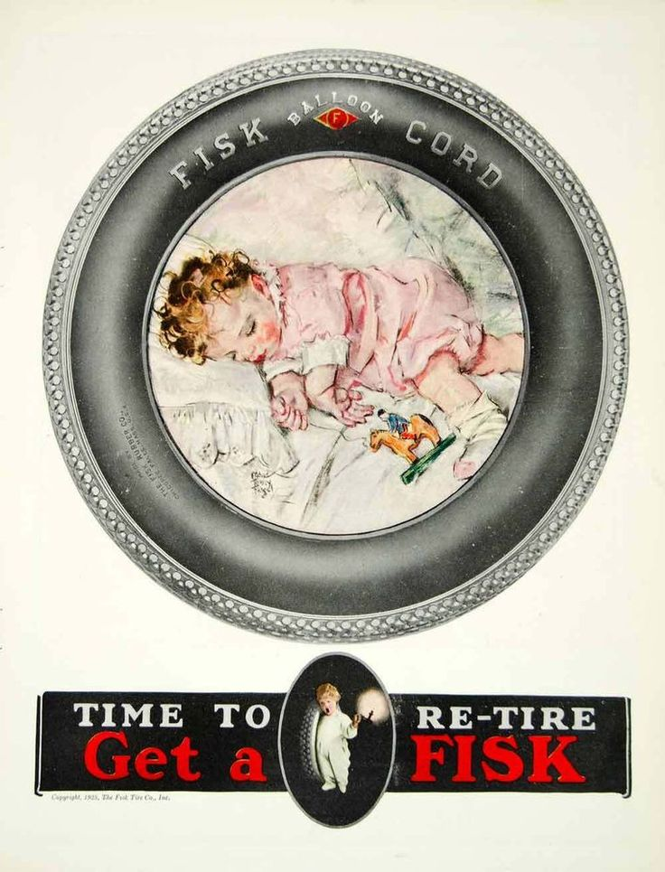 US $13.45 Used in Collectibles, Advertising, Tires_1925 Ad Vintage Fisk Balloon Cord Automobile Car Tires Sleeping Baby VYF1_approx. 9x12 inches or 23 x 30 cm_This is an original 1925 color print ad for Fisk Balloon Cord automobile tires_orig price $46_$6 ship_no creases_no natural defects_no surface rub_no tears_no water damage