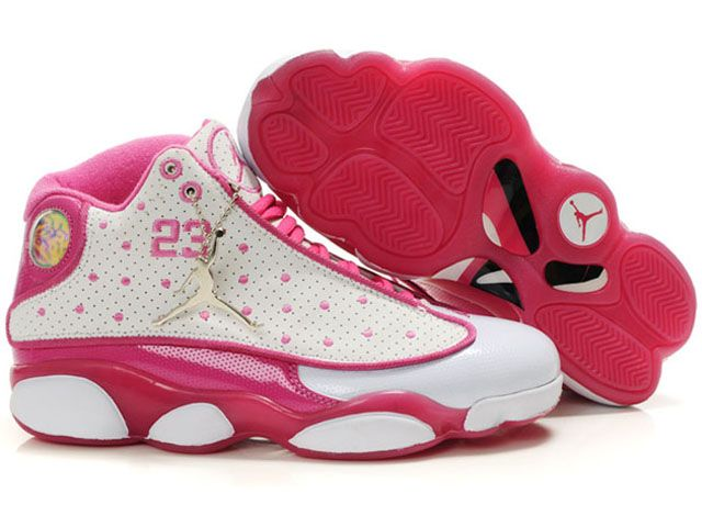 Whoa.. cute pink and white jordans