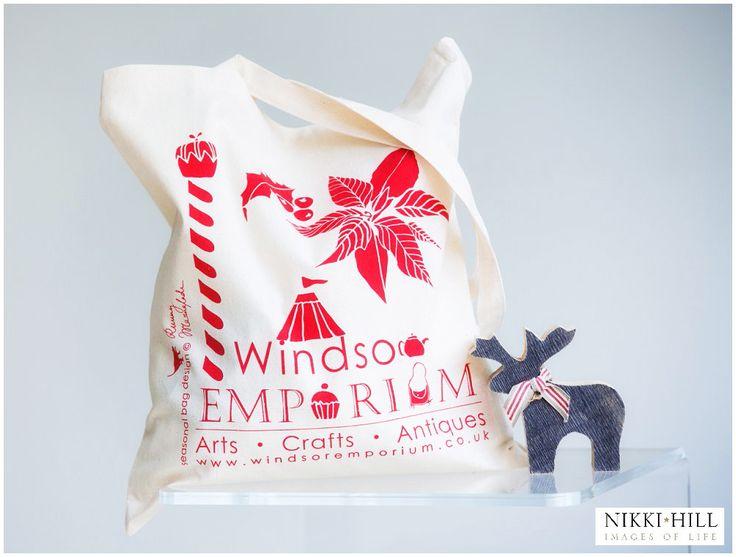 The Windsor Emporium Christmas Tote Bag!  Shot by Nikki Hill http://www.nikkihill.com/