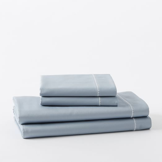 400-Thread-Count Organic Sateen Sheet Set - in Moonstone (would be a perfect match for your bedding) - on sale for $135 for king size