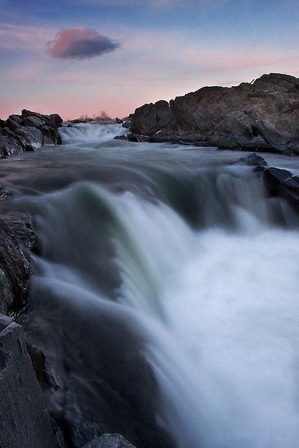 Sunset in Great Falls National Park, Virginia