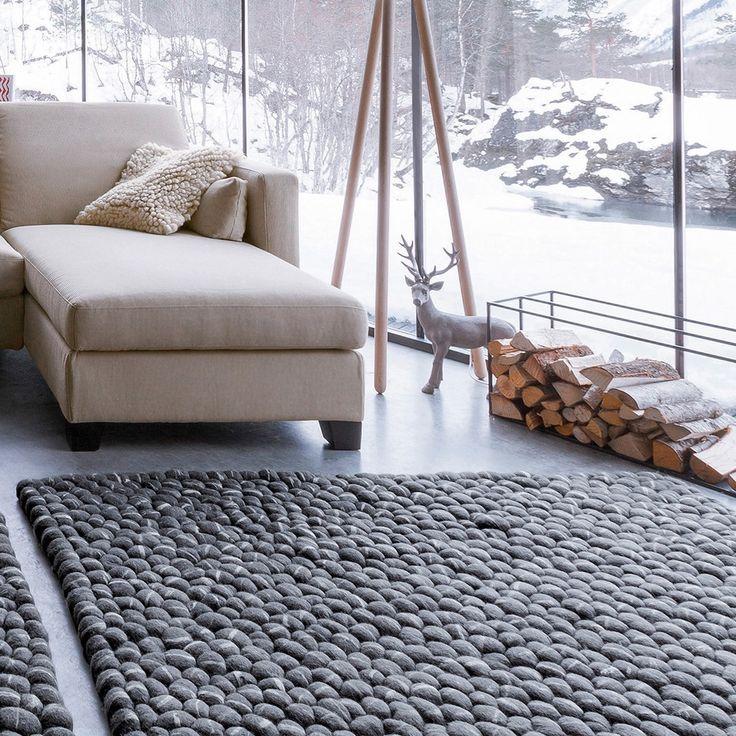 Des tapis moelleux au sol cozy pinterest tapis for Cailloux decoratif interieur