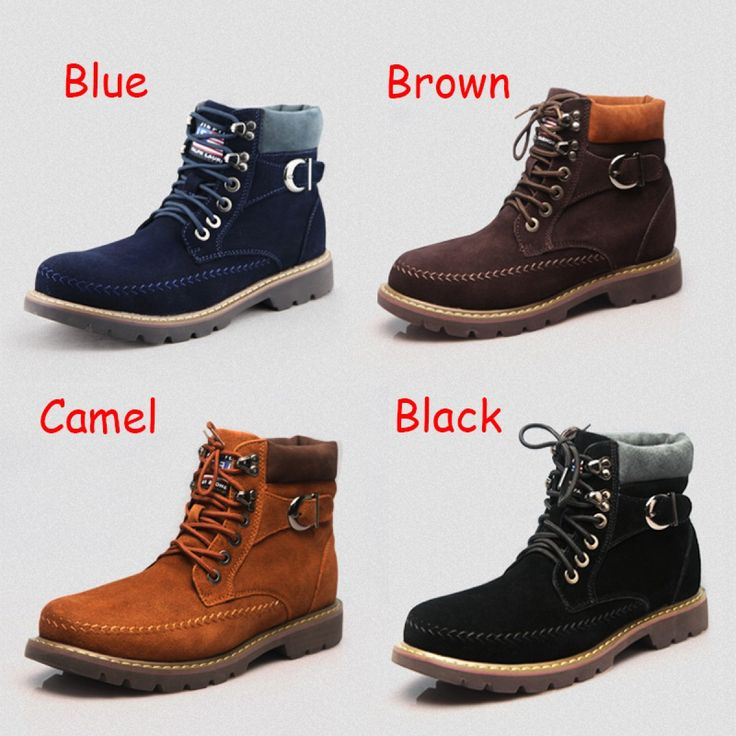 Winter warm Korean cotton elevator boot that make men taller 7cm /  2.75inches height increasing