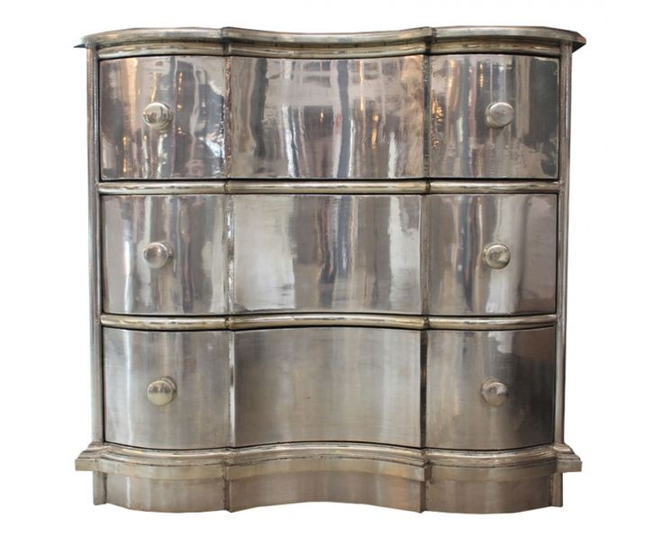 Curved Chest of Drawers White Metal - Storage | Weylandts South Africa