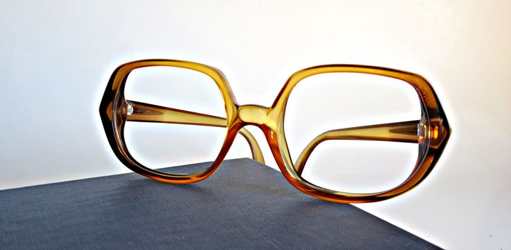 Vintage Frames Amber Lucite Frames  Mid Century  Eyeglasses Eyewear 1950's by treasurecoveally on Etsy