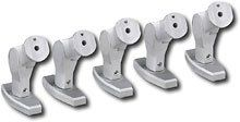 Init Home Theater Speaker Mounts 5 Pack Silver by Init. $12.88. Secure your home theater speakers to either a wall or ceiling with these InIt speaker mounts. The twist and swivel design allows you multiple positioning options.Tilt-and-swivel design allows you multiple options when placing your home theater speakers . Decorative caps hide adjustment bolts and mounting hardware for a cleaner, stylish look Locking grooved joints help provide precision alignment and ma...