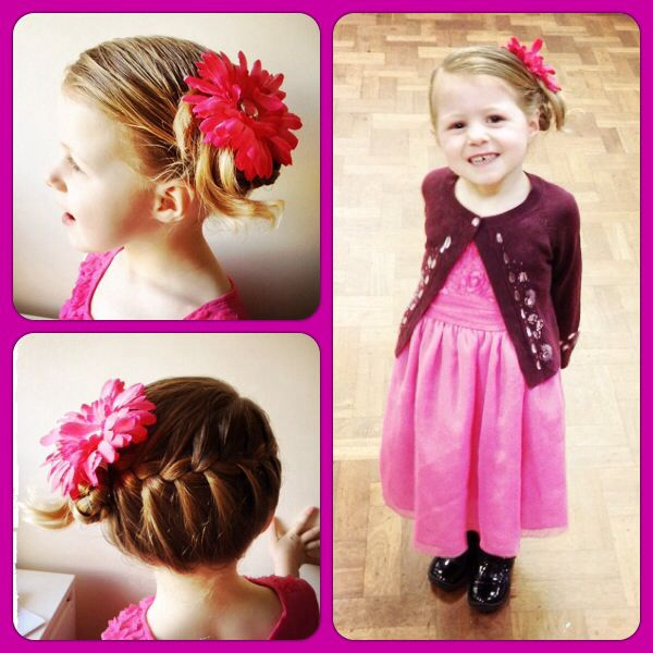 My little girls hair for a party we went to today. Very cute & fun. Got lots of comments bit of inspiration for party hair for people