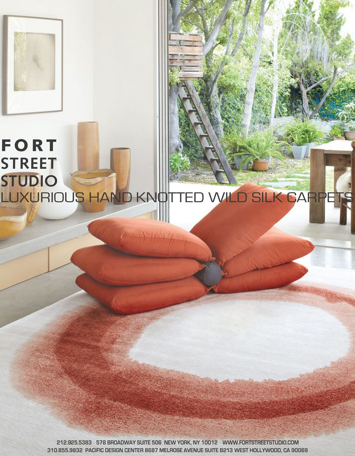 Fort Street Studios Ring Red Rug Installation Ad As Seen In Todays Living World