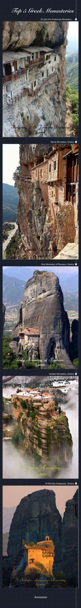 Top 5 Greek Monasteries