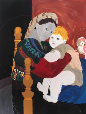 "Saatchi Art Artist Mathieu Bernard-Martin; Painting, ""From Madonna della Sedia (RAF)"" #art"