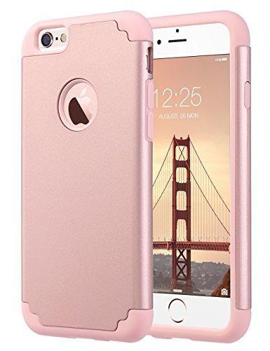 Oferta: 9.29€ Dto: -69%. Comprar Ofertas de IPhone 6S caso, ULAK iPhone 6 caso Funda Carcasa de doble capa de protección delgado híbrido de piel de silicona cubierta de barato. ¡Mira las ofertas!