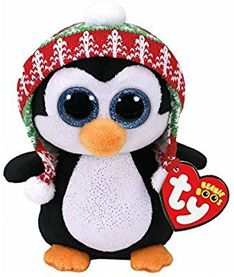 5aef26cf17b Amazon.com  Ty Beanie Babies 37239 Boos Penelope the Christmas Penguin Boo   Toys   Games