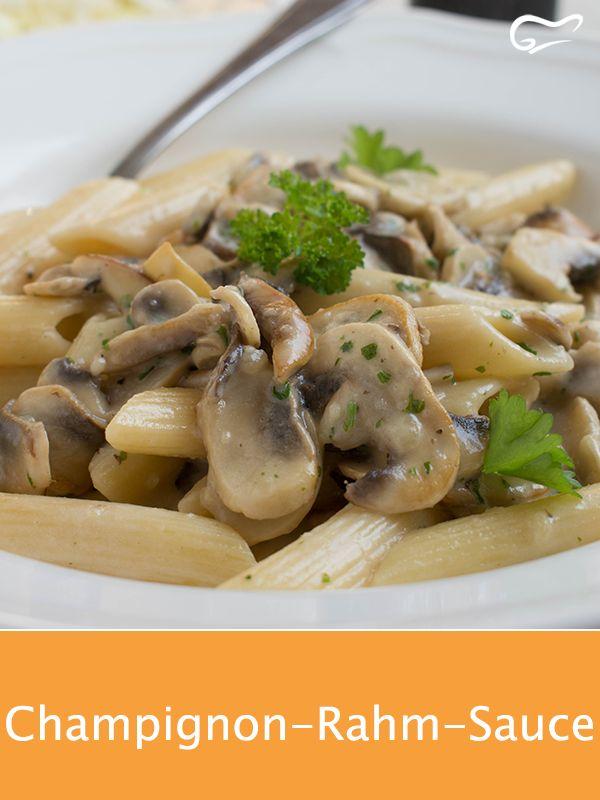 pasta mit champignon rahm sauce