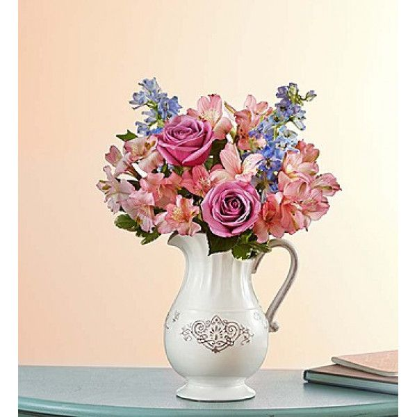 EXCLUSIVE For all she does, make this day one she'll always remember with our gorgeous, garden-inspired arrangement. A fresh gathering of lavender #roses, soft blue delphinium, pink #lilies and more is artistically. Send #Flowers to #New-york