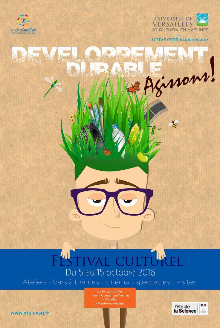 Expo Développement durable- 5 au 15 oct 2016- Affiche du festival culturel / DEVU-UVSQ