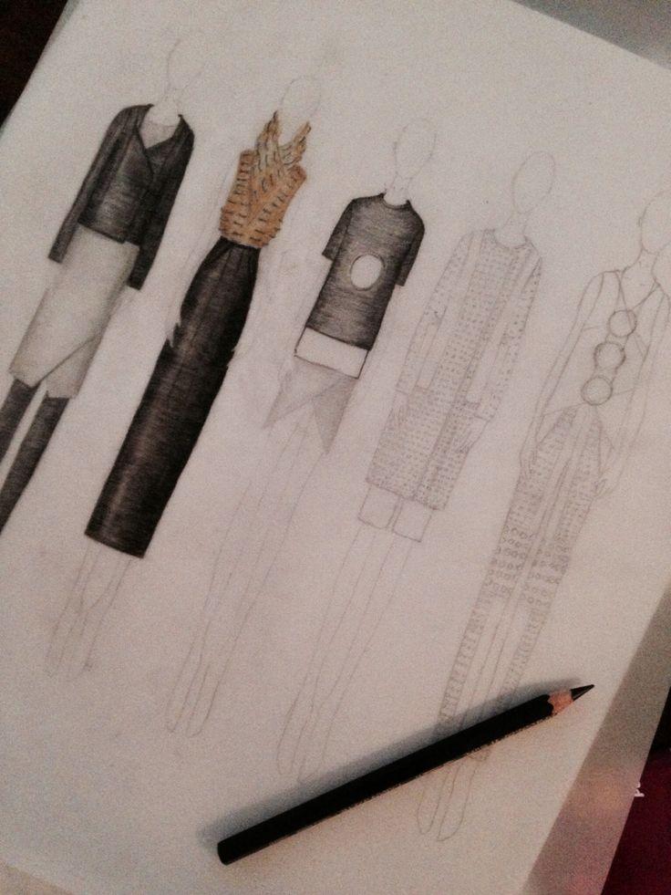 Fashion illustration. Line up. Exam. Fashion design Akademiet 2014