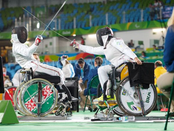 Rio 2016 Paralympic Games Womens Team Foil between Hungary and Brazil