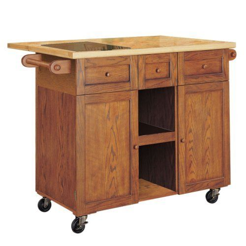 Kitchen Cart Wood Wire Slide Out
