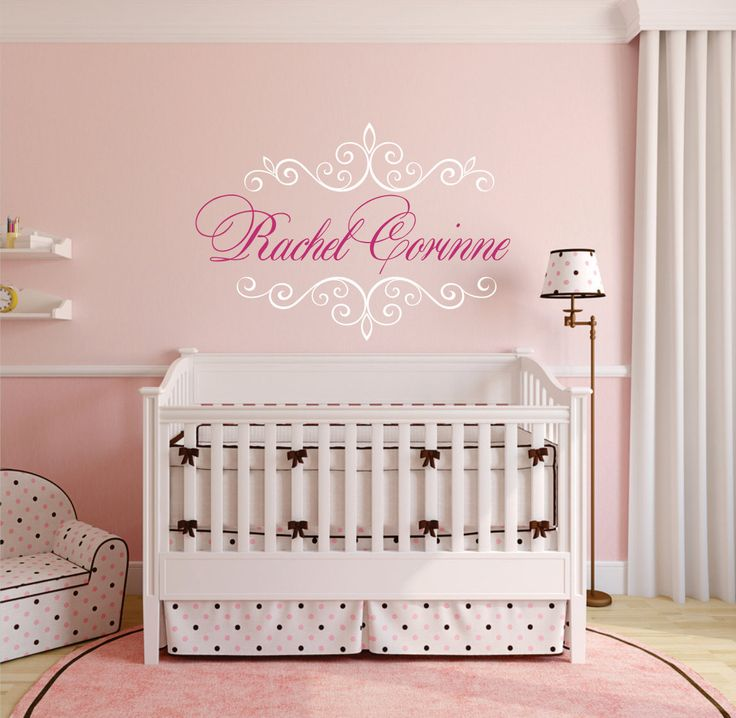 Best Girls Vinyl Wall Decal Images On Pinterest Vinyl Wall - Monogram vinyl wall decals for girls