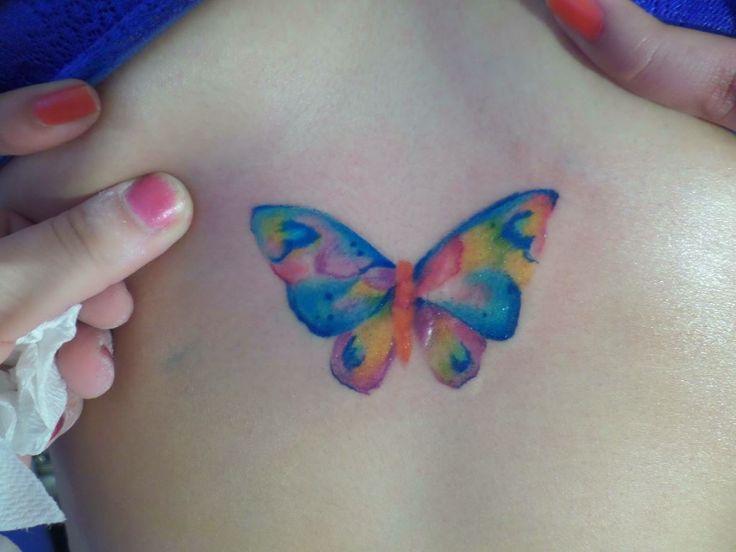 tatuaje de mariposa, watercolor tattoo