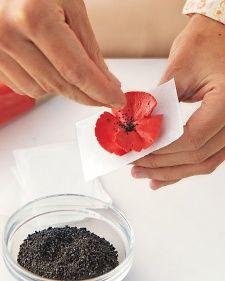How to Make Buttercream Poppies - Martha Stewart Buttercream frosting