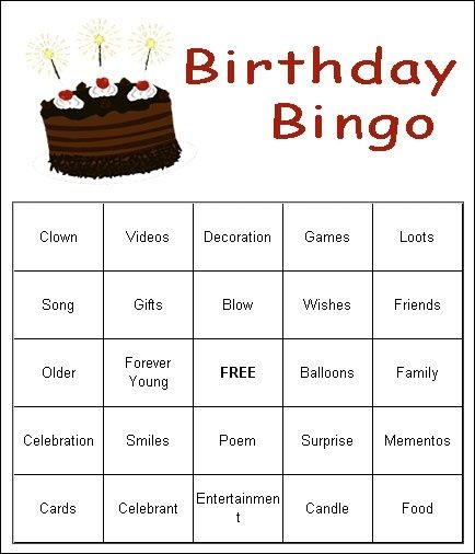 Adult Birthday Party Games by lea