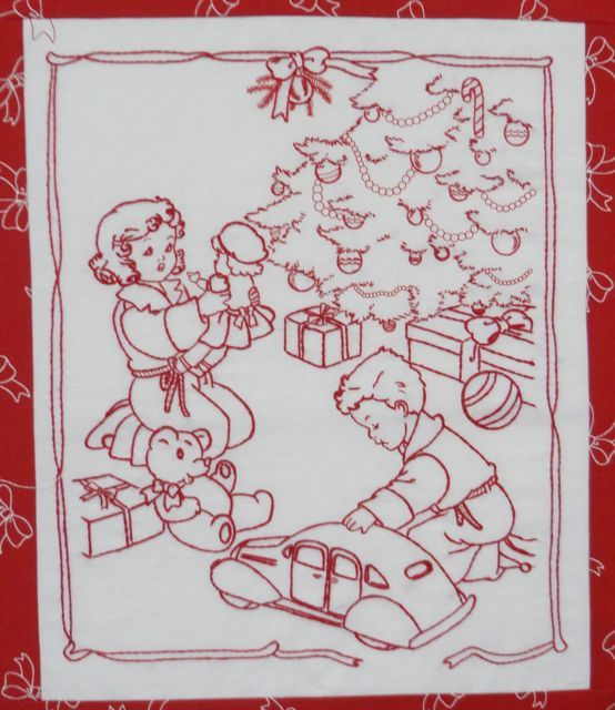 Redwork Quilt Patterns Christmas : 215 best Redwork Embroidery images on Pinterest ...