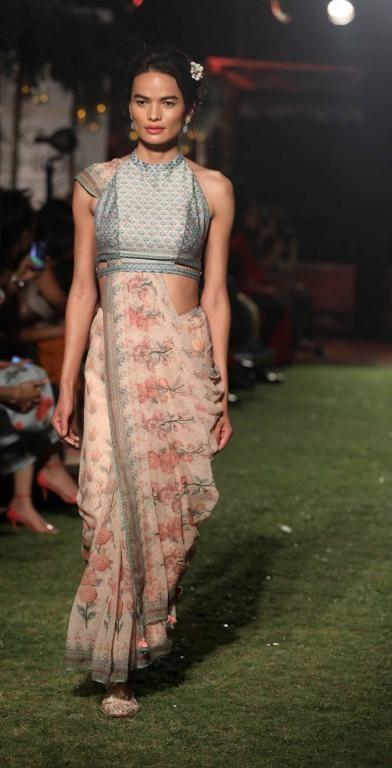 d219ac64f056 Pastel saree with crp top  weddingday  indianbride  saree  bridalwear   bridalwearideas. Anita Dongre - Lakme Fashion ...