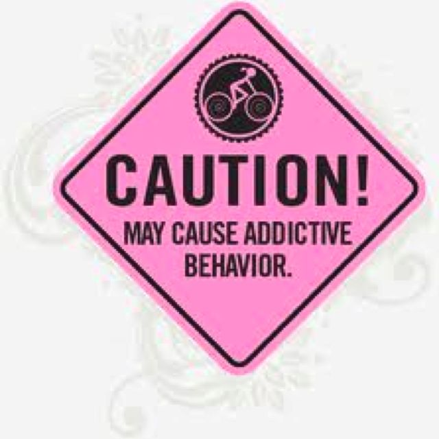 Cycling may cause addictive behavior... What do you think?: