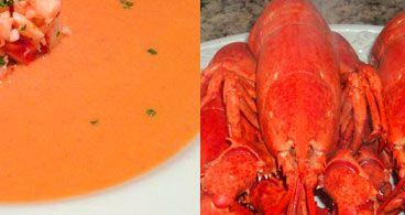 Sopa de lagosta e lagostim