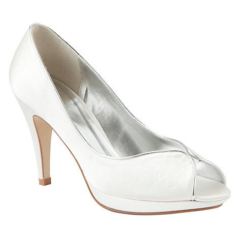 Buy John Lewis Occasion Hayfield Satin Peep-Toe Court Shoes Online at johnlewis.com