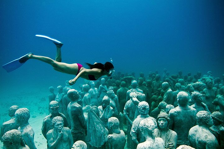 Jason de Caires Taylor: Underwater sculptures, Cancun and Isla Mujeres National Marine Park